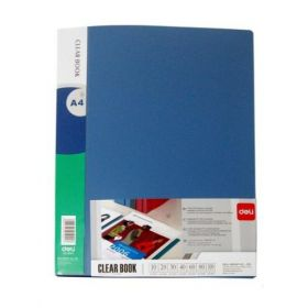 Deli Display Book (60 Pockets) Blue - A4 (1 Pc)