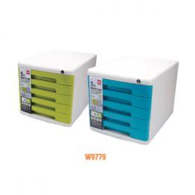 Deli File Cabinet 5 Drawer Green W9779