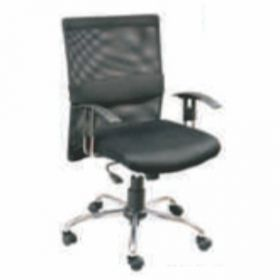 Executive  Chair Afc-222  Nylon  Chrome  Synchro Tilt  Chrome Pp Adjustable  Seat Fabric And  Black Mesh And Lumber