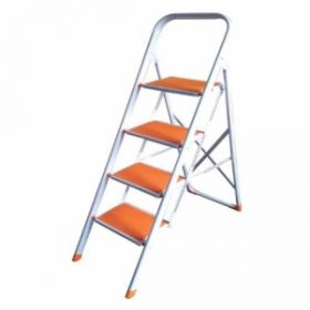 Ladder Idel4Sl  Ladder  Delta 4Step Ladder White Orange