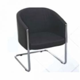 Visitor Chair Afc-717  Chrome  Nil  Nil  Seat And Back Leatherite