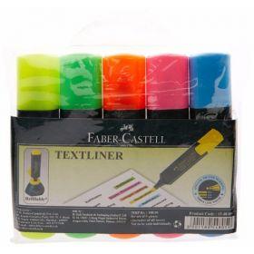 Faber-Castell Textliner Pack Of 5(Assorted) - 1 Set