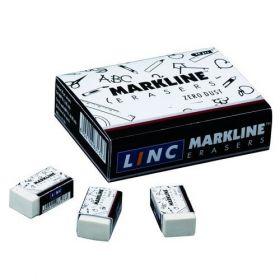 Linc Markline Eraser (Pack Of 20) - 10 Packs