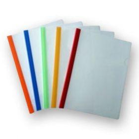 Milky Polypropylene Strip Folder, Size A4 - 10 Pcs