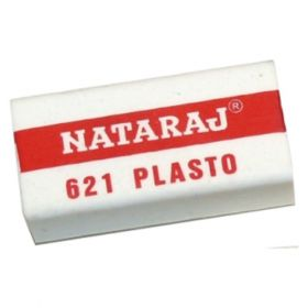 Nataraj 621 Plasto Eraser, 20 Pc/Pack - 10 Packs