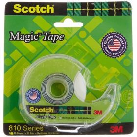 3M Scotch Magic Tape Dispenser,19 Mm X 33 Mtrs - 5 Pcs