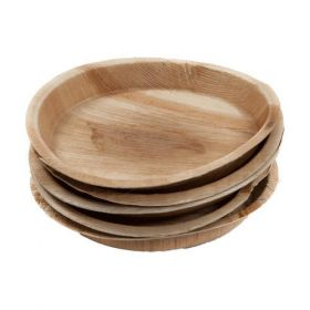 "Areca Leaf Round Disposable Plates 8""  - Pack of 100"