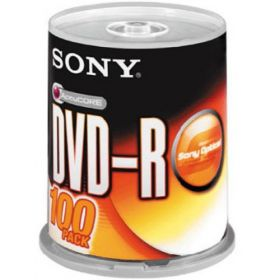 Sony DVD-R Spindle Pack of 100