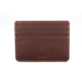 Elan Classic Lth Basic Card Holder- Brown
