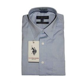 U.S. Polo Assn. Men Light Blue Premium Cotton Shirts -44cm