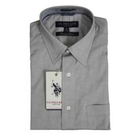 U.S. Polo Assn. Men Light Grey Premium Cotton Shirts -44cm