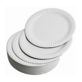 """Disposable Round Paper Plates-9"""""""