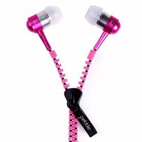 Pebble Zipbeat Tangle Free Earphones - Pink
