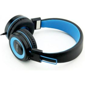 Portronics Aural 202 Wired Headphones With In-Line Mic-Blue