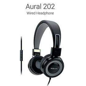 Portronics Aural 202 Wired Headphones  With In-Line Mic - Grey