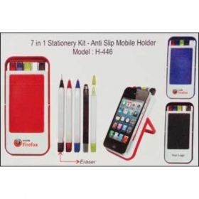 7 In 1 Stationery Kit- Anti Slip Mobile Holder (H-446)