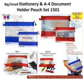 A4 Document Holder Pouch Set (H-1501) - 2Pcs Set