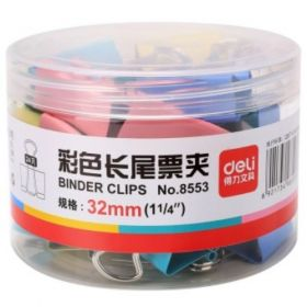 Deli Color Binder Clip(Assorted) 32Mmbox