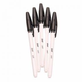Cello Fine Tip Ball Pen, Black, 5 Pcs/Pack - 10 Packs(50 Pcs)