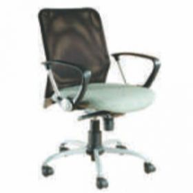 Executive  Chair Afc-223  Nylon  Chrome  Synchro Tilt  Pp  Seat Fabric And  Black Mesh