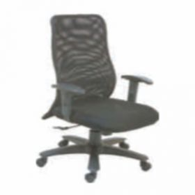 Executive  Chair Afc-238  Nylon  Pp  Synchro Knee Tilt  Pu Adjustable  Seat Fabric And Black Mesh
