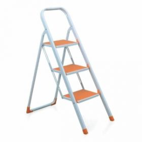 Ladder Idel3Sl  Ladder  Delta 3Step Ladder White Orange