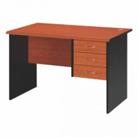Working Table Imil3Dot  Office Table  Milford 3 Drawer Office Table Cherry/Black
