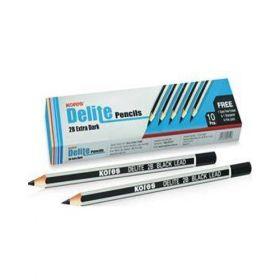 Kores Delite Pencil Hb Extra Dark 10Pcs/Pack - 10 Packs