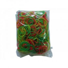 Nylon Rubber Band, 2 Inch, Assorted Colours, 500 G / Pack - 3 Packs