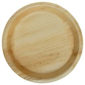 "Areca Leaf Round Disposable Plates 6""  - Pack of 100"