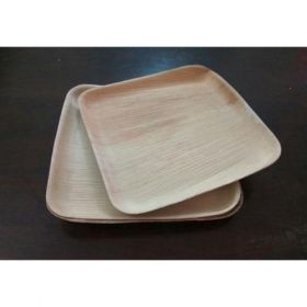 "Areca Leaf Square Disposable Plates 6x6"" - Pack of 100"