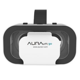 Auravr Go Light Weight Vr Headset With Inbuilt Clicker Button, 42 Mm Two Way Adjustable Lenses For Smartphones