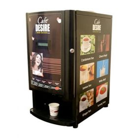 Cafe Desire Premix Vending Machine Two Lane Double Option