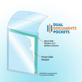 Dual Documents Pockets, Pack of 4 pcs, (CH402)