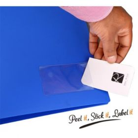 Business card/label self-adhesive pockets, PKT01 (SIDE POCKETS) Pack of 2