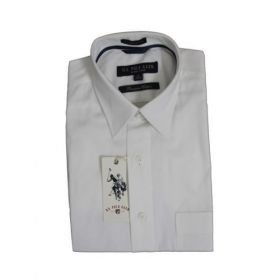 U.S. Polo Assn. Men White Premium Cotton Shirts -46cm