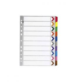 Sps 1 To 10 Plastic Color File Seperator- (Pack Of 50)