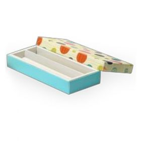 Beige / Turquoise Foldable 210 - 350 Gms Box (2 Lines)