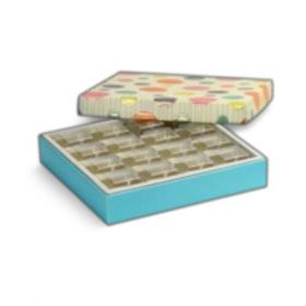 Beige / Turquoise Foldable 300 - 500 Gms Box (16 Parts)