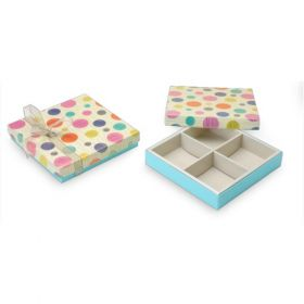 Beige / Turquoise Foldable 300 - 500 Gms Box (4 Parts)