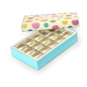 Beige / Turquoise Foldable 400 - 650 Gms Box (15 Parts)