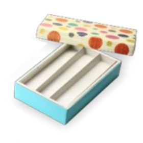 Beige / Turquoise Foldable 400 - 650 Gms Box (3 Lines)