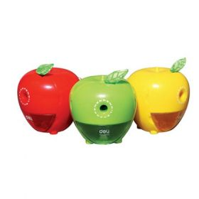Deli 0659 Apple Rotary Pencil Sharpener (Assorted) - 1 Pc