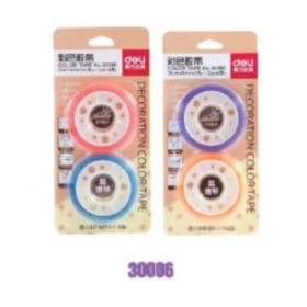 Deli 30023 Stationery Tape (Assorted) 38Um*12Mm*30Y - 1 Pc