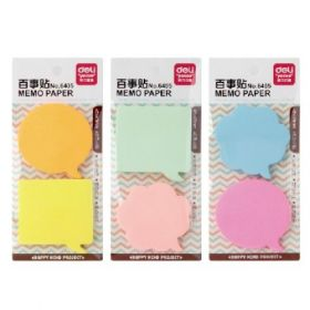 Deli 6405 Sticky Note Pad (Assorted) - 1 Pc
