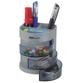 Deli 9147 Pen Stand (Assorted) - 1 Pc