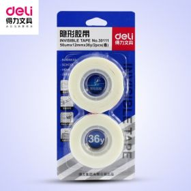 Deli Invisible Tape (White) 12Mm*36Y*50Um - 1 Pc