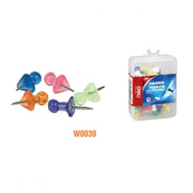 Deli Transparent Push Pin(Assorted)W0030