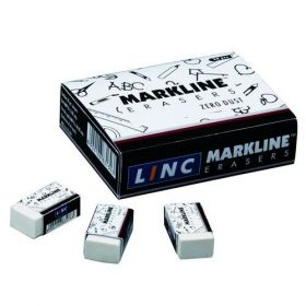Linc Markline Eraser (Pack Of 20) - 10 Packs