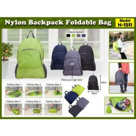 Nylon Backpack Foldable Bag (H-1511)